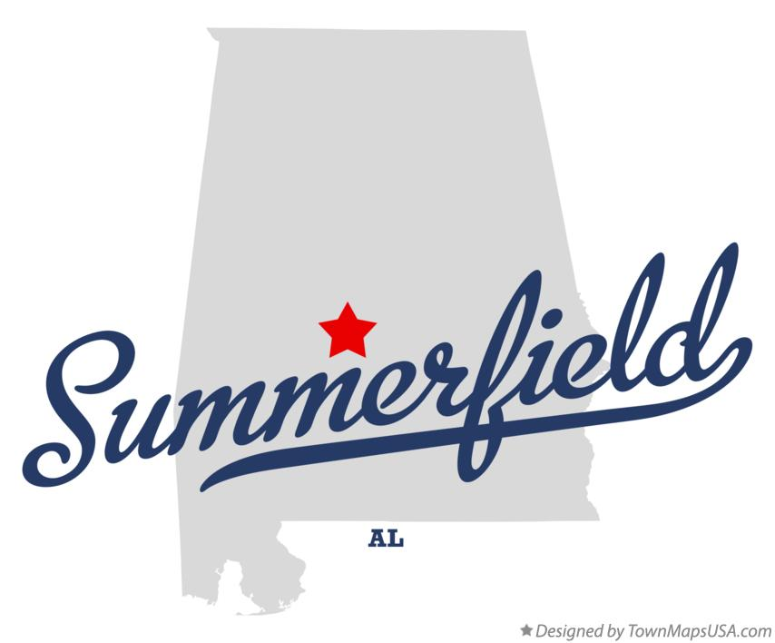 Map of Summerfield Alabama AL
