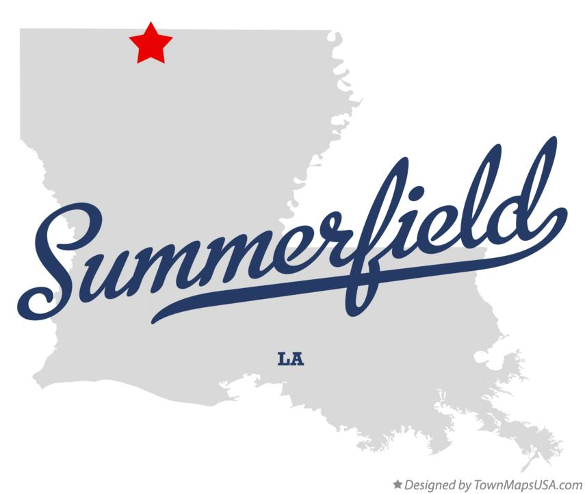Map of Summerfield Louisiana LA
