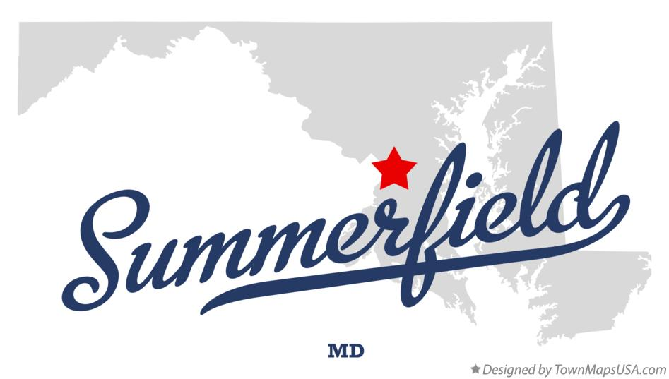 Map of Summerfield Maryland MD