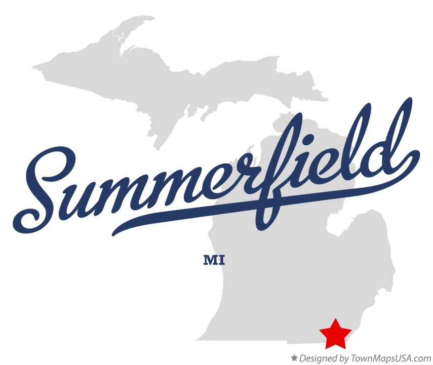 Map of Summerfield Michigan MI