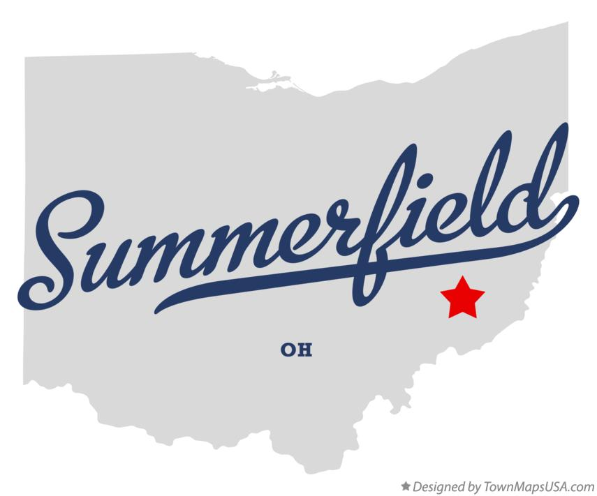 Map of Summerfield Ohio OH