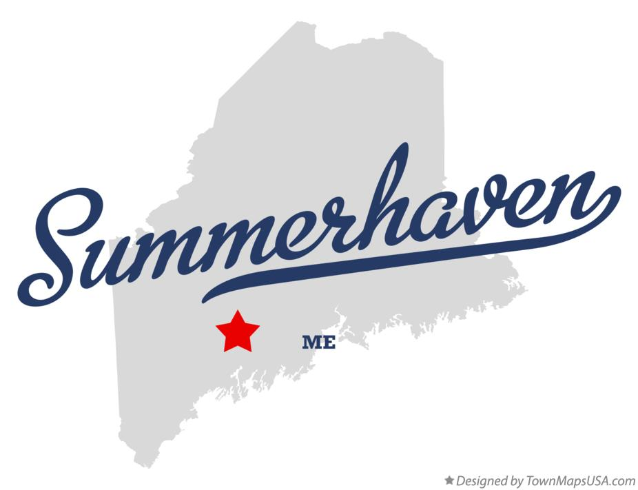 Map of Summerhaven Maine ME