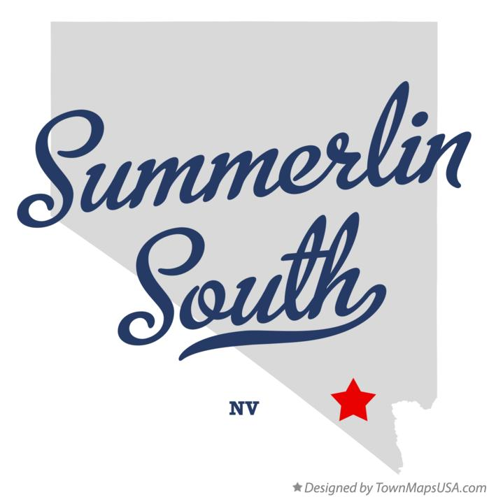 Map of Summerlin South Nevada NV