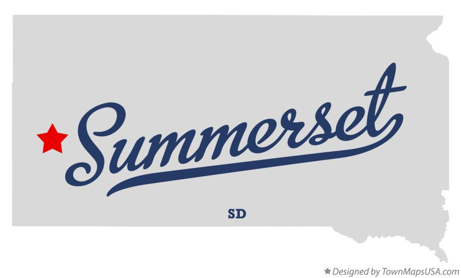 Map of Summerset South Dakota SD