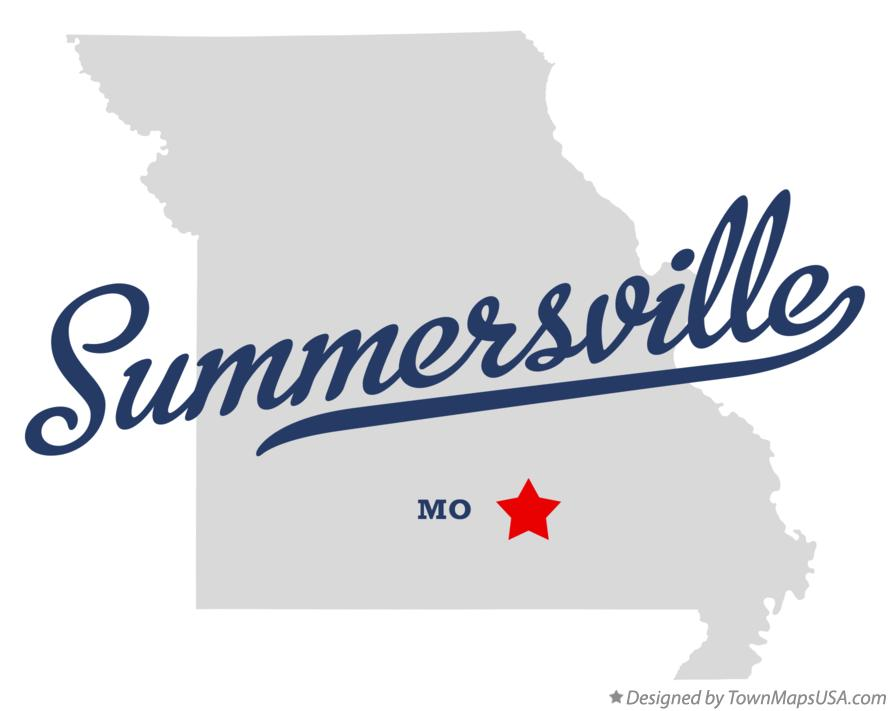 Map of Summersville Missouri MO