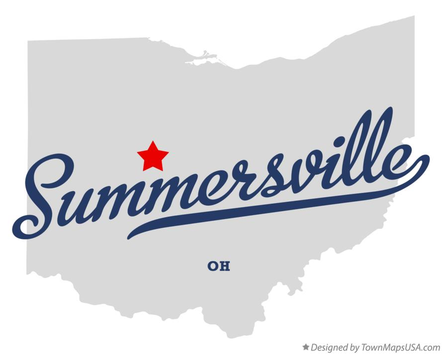 Map of Summersville Ohio OH