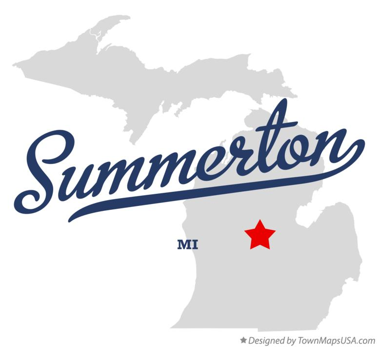 Map of Summerton Michigan MI