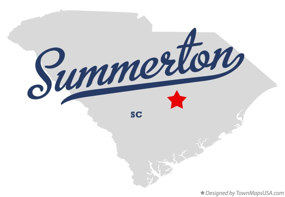 Map of Summerton South Carolina SC