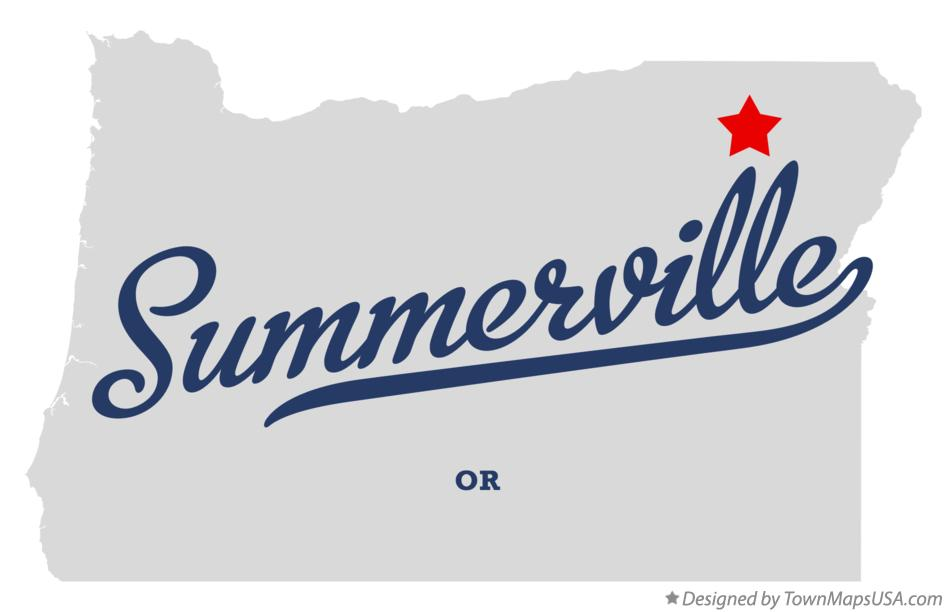 Map of Summerville Oregon OR