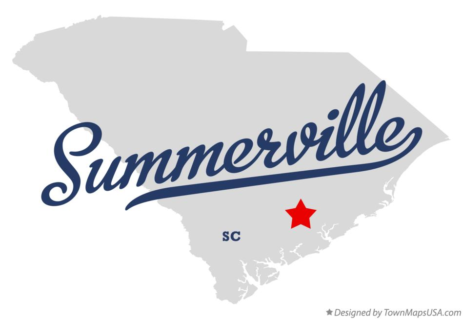 Map of Summerville South Carolina SC