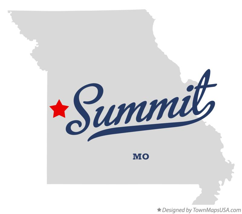 Map of Summit Missouri MO