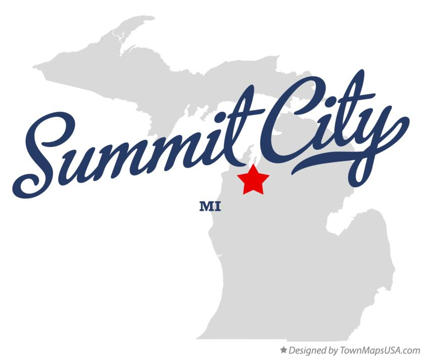 Map of Summit City Michigan MI