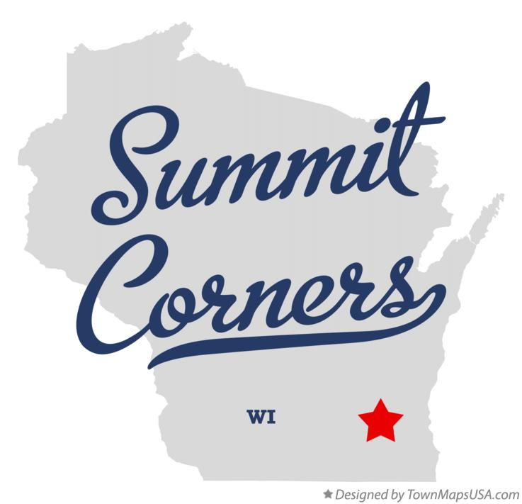 Map of Summit Corners Wisconsin WI