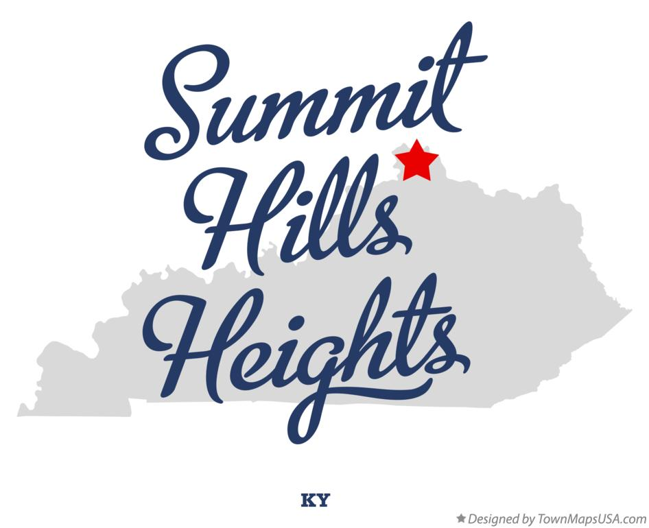 Map of Summit Hills Heights Kentucky KY