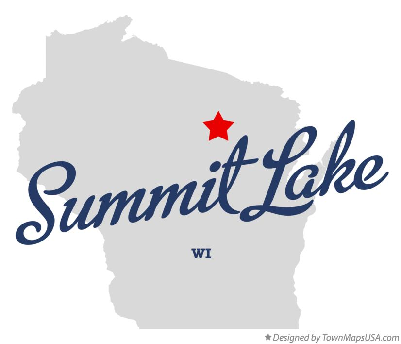 Map of Summit Lake Wisconsin WI