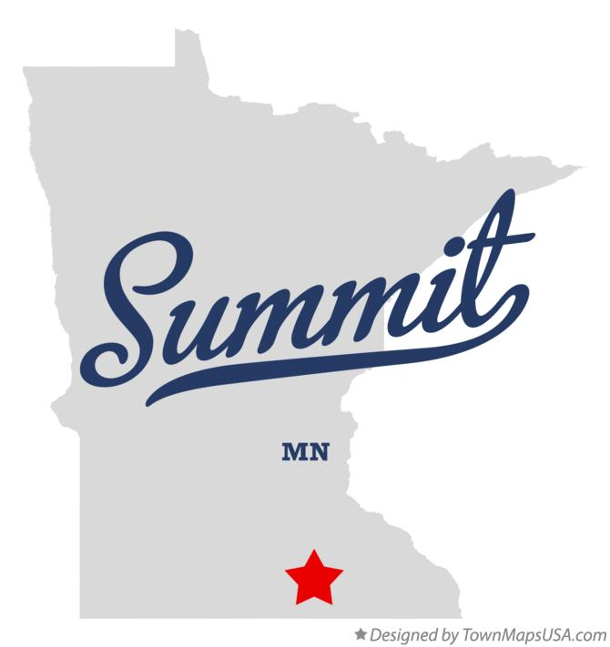 Map of Summit Minnesota MN