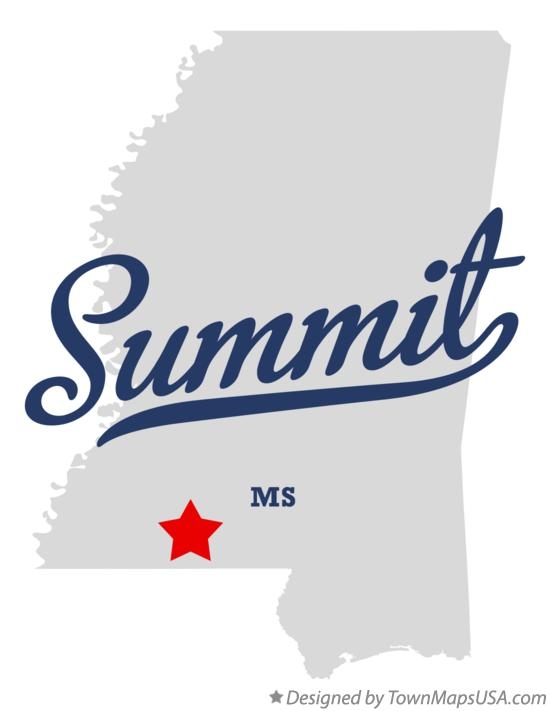 Map of Summit Mississippi MS