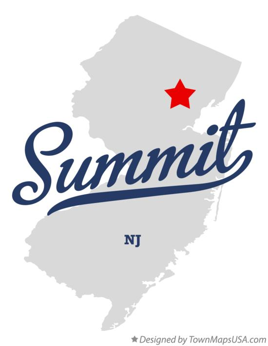 Map of Summit New Jersey NJ