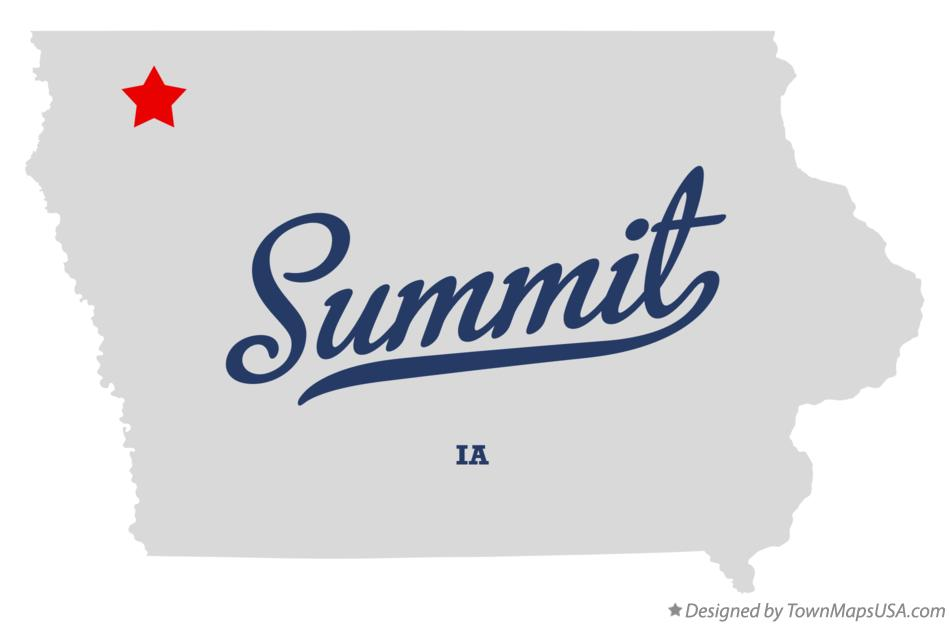 Map of Summit Iowa IA