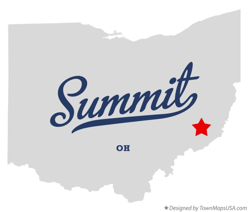 Map of Summit Ohio OH