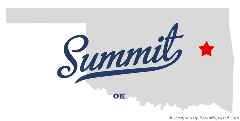 Map of Summit Oklahoma OK