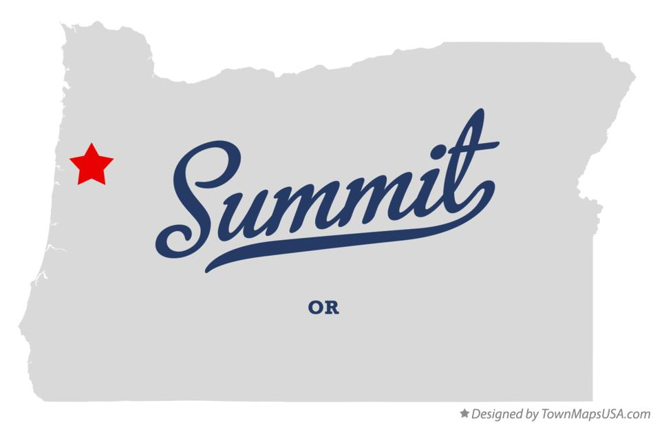 Map of Summit Oregon OR