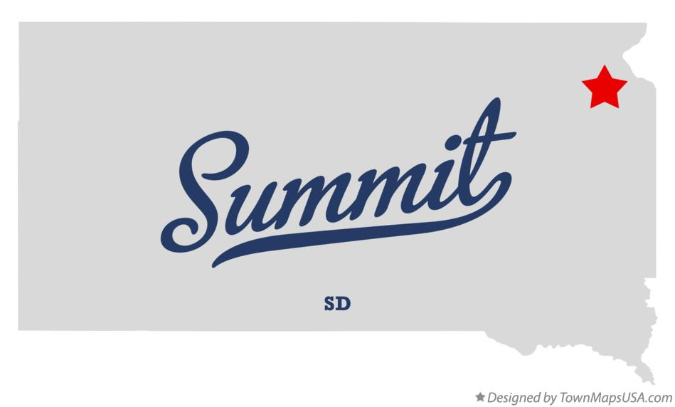 Map of Summit South Dakota SD