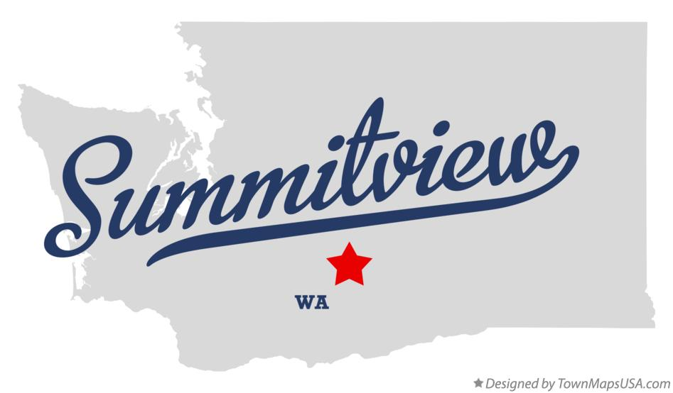 Map of Summitview Washington WA