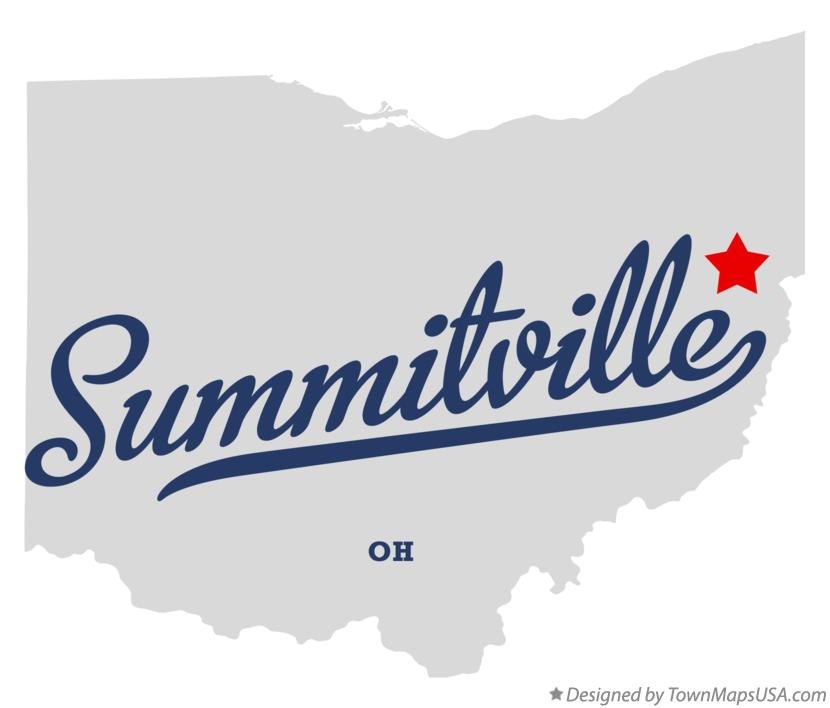 Map of Summitville Ohio OH