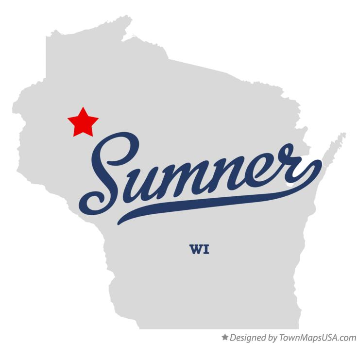 Map of Sumner Wisconsin WI
