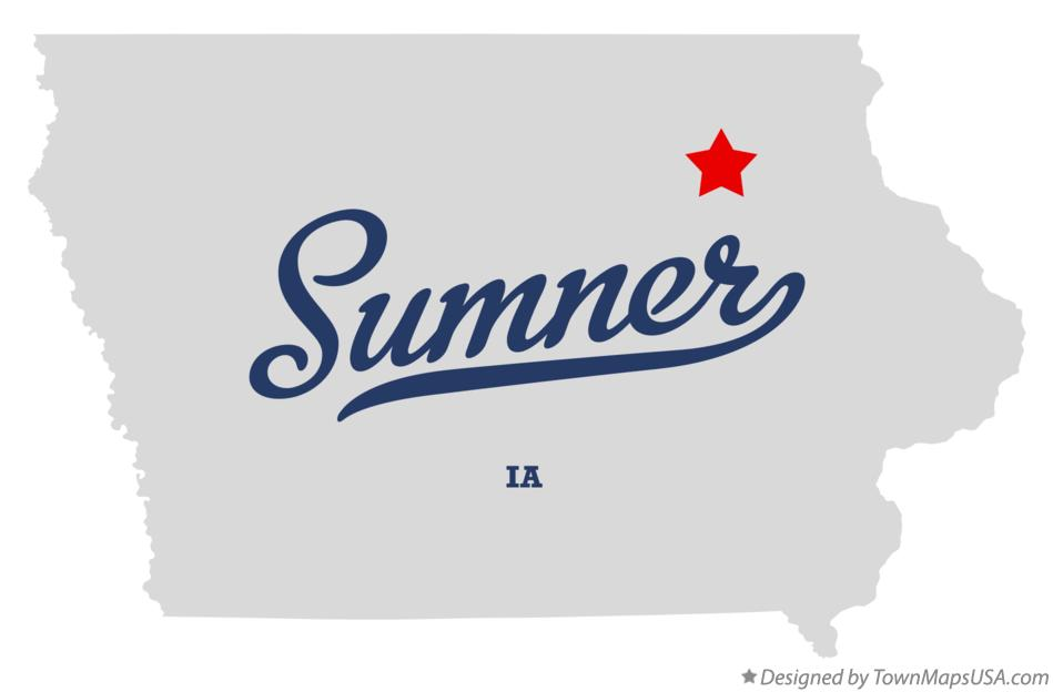 Map of Sumner Iowa IA