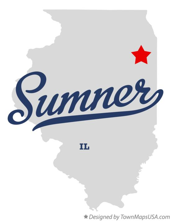 Map of Sumner Illinois IL