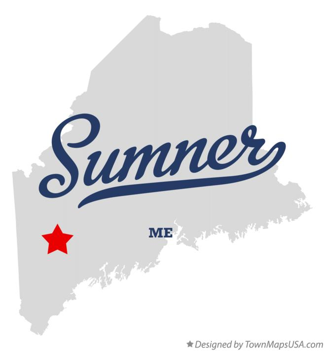 Map of Sumner Maine ME