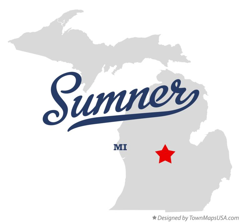 Map of Sumner Michigan MI