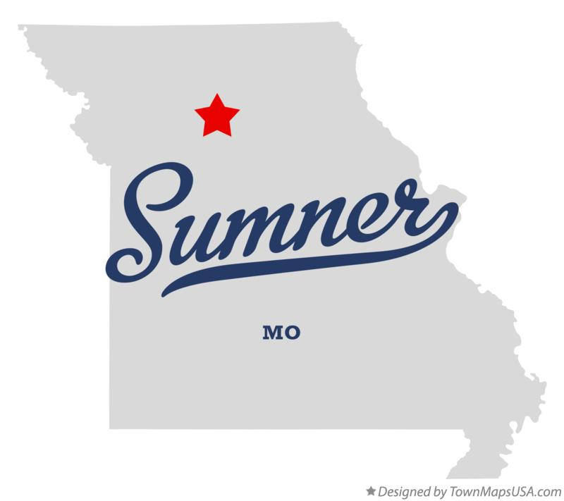 Map of Sumner Missouri MO