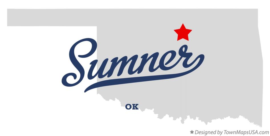 Map of Sumner Oklahoma OK