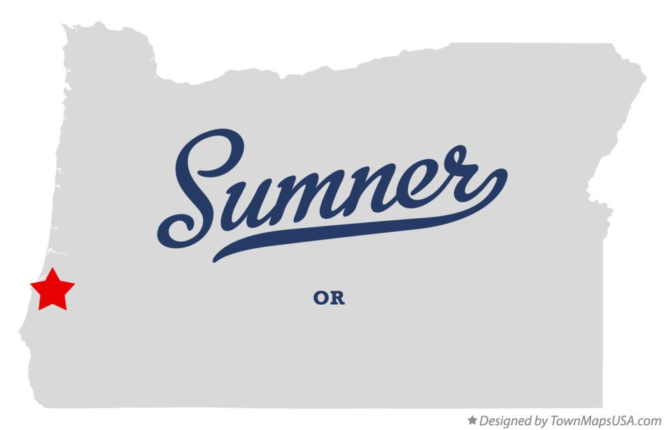 Map of Sumner Oregon OR