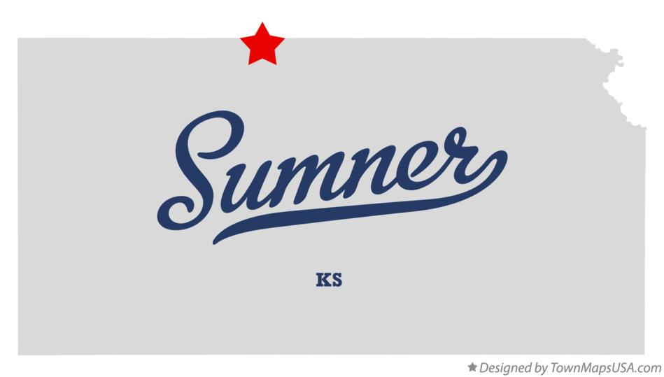 Map of Sumner Kansas KS