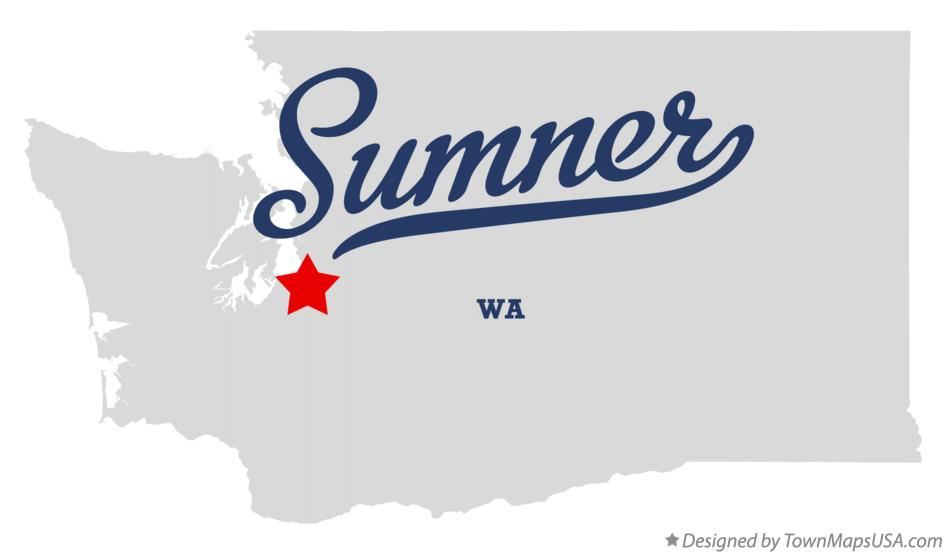 Map of Sumner Washington WA