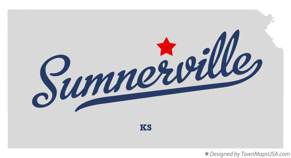 Map of Sumnerville Kansas KS