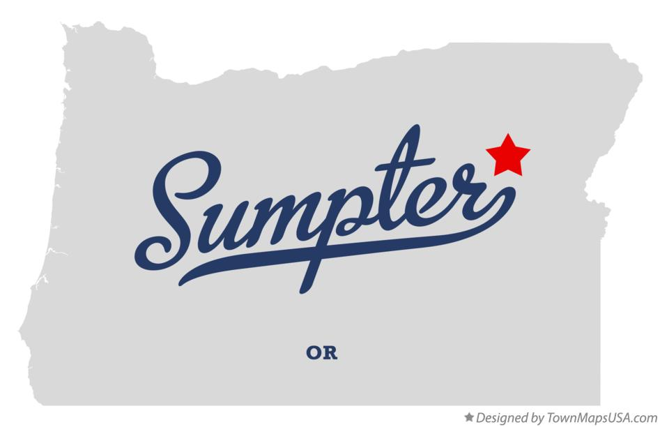 Map of Sumpter Oregon OR