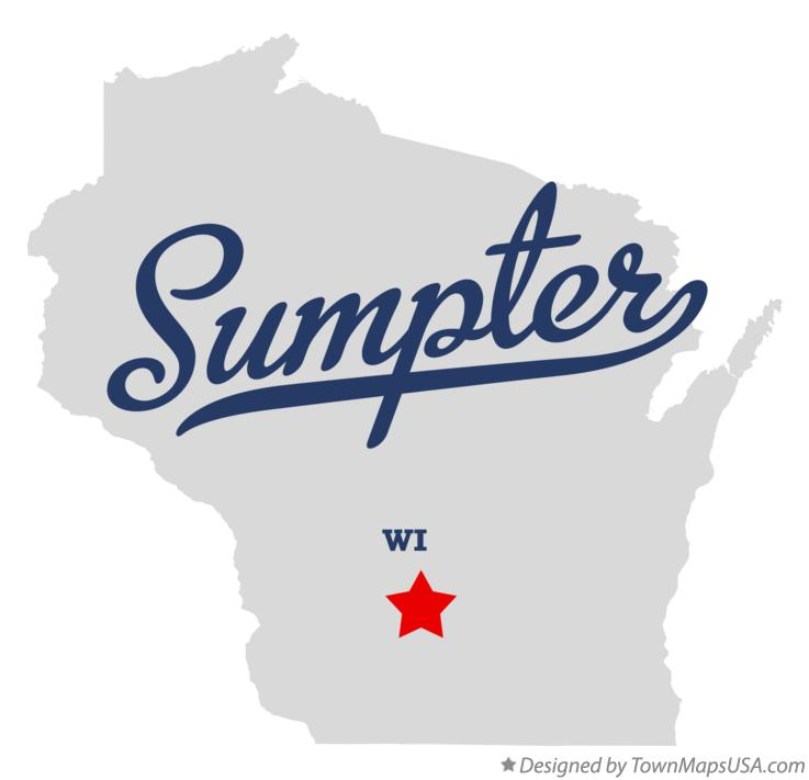 Map of Sumpter Wisconsin WI