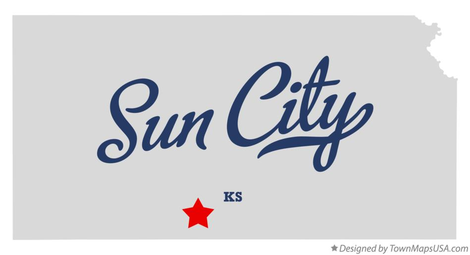 Map of Sun City Kansas KS