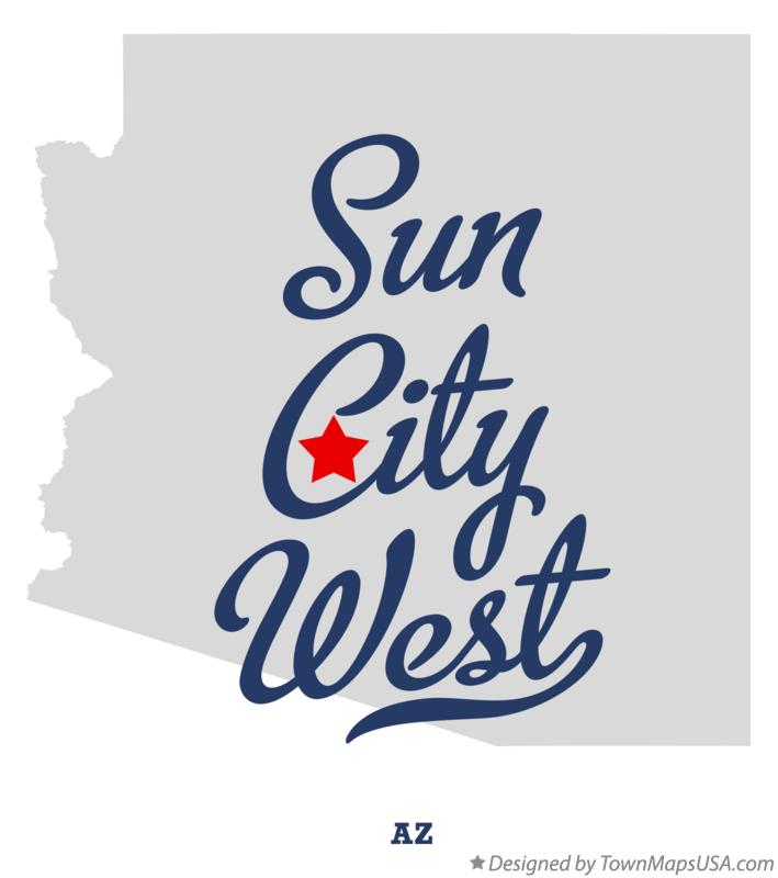 Map of Sun City West Arizona AZ