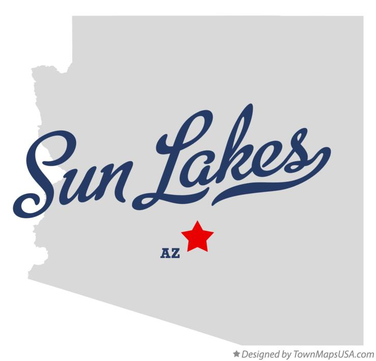 Map of Sun Lakes Arizona AZ