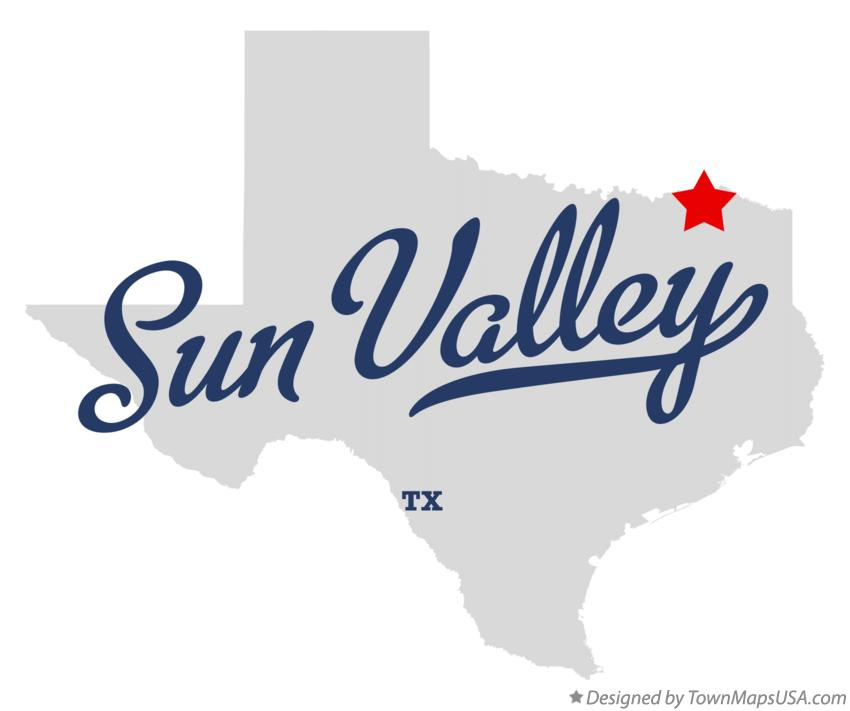 Map of Sun Valley Texas TX