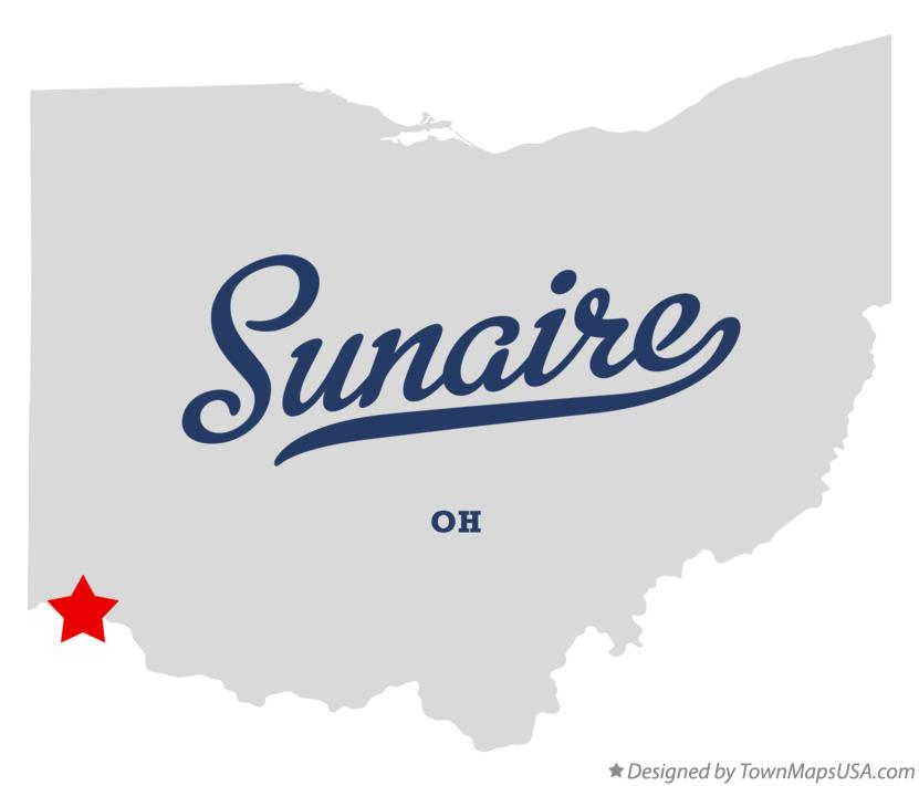 Map of Sunaire Ohio OH