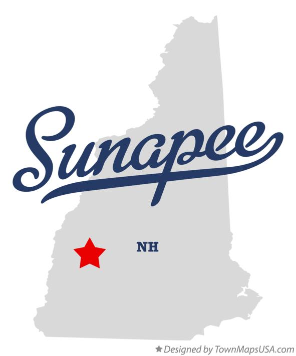 Map of Sunapee New Hampshire NH