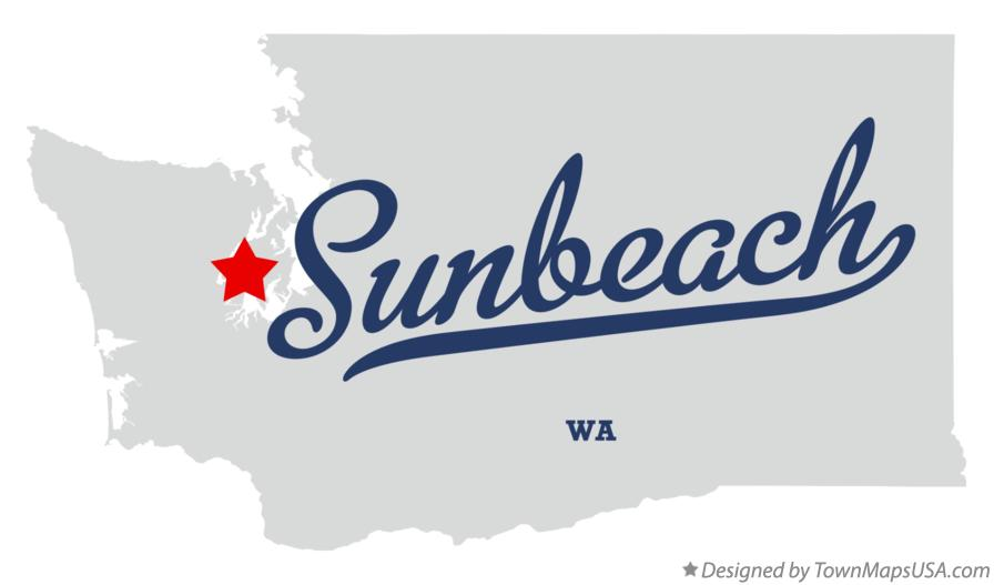 Map of Sunbeach Washington WA