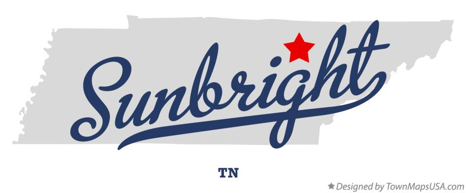Map of Sunbright Tennessee TN